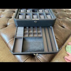 Wolf Men's watch box - fits 10 watches
